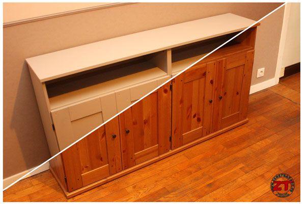 Dans ce tutoriel en photos, je vous montre comment redonner un - relooker un meuble en pin