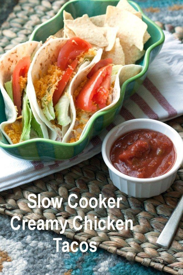 What could be better than a creamy chicken taco? Chicken + cream cheese + taco. Rich and flavorful. Melting in your mouth. Heaven from the slow cooker.
