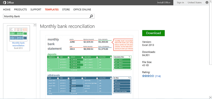 Bank Reconciliation Template Reach Your Budget Goals Free Microsoft Office Templates Or .