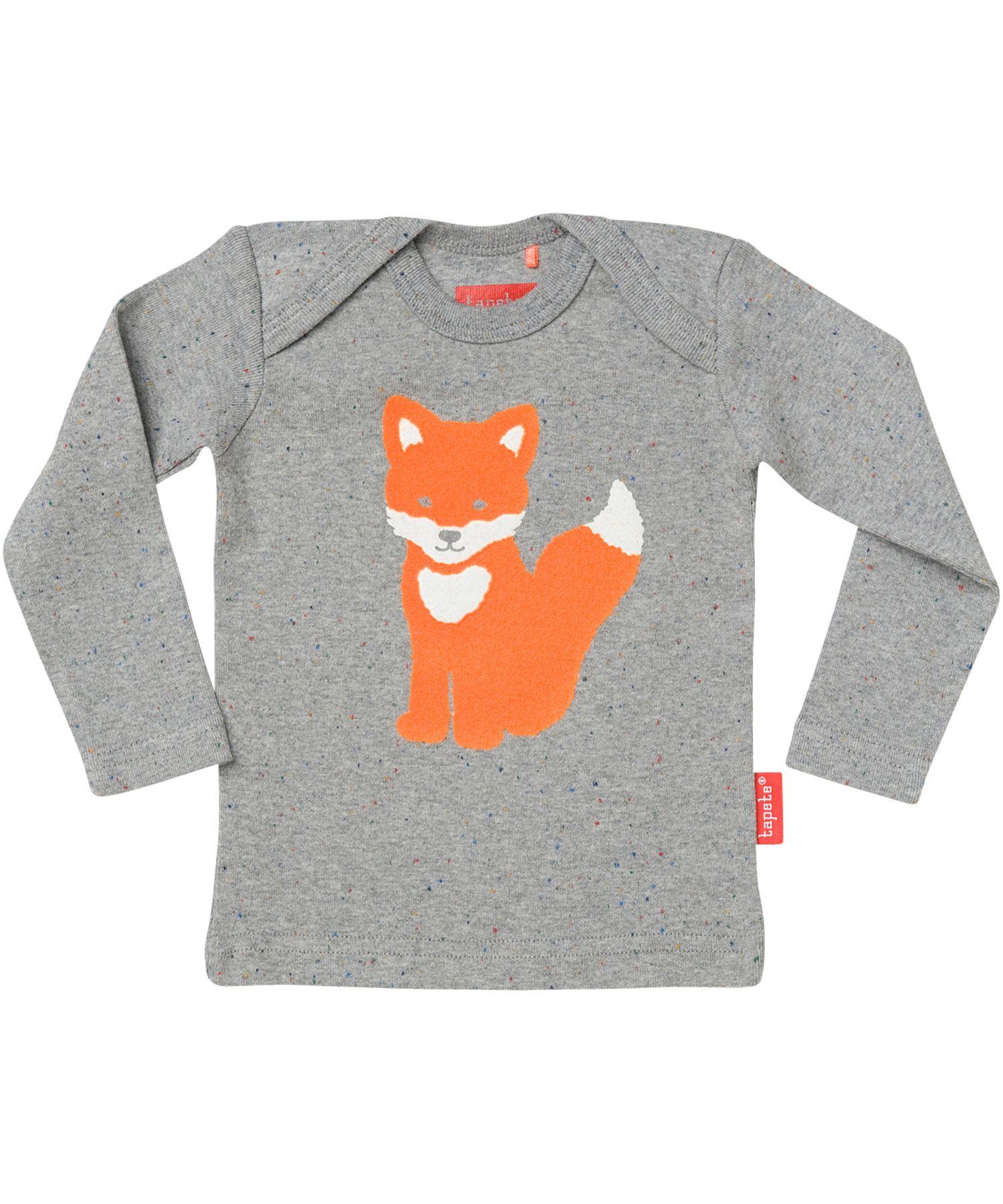 tapete schattig grijze gespikkelde t shirt met vosjetiffy fox kleidung f r kinder pinterest. Black Bedroom Furniture Sets. Home Design Ideas