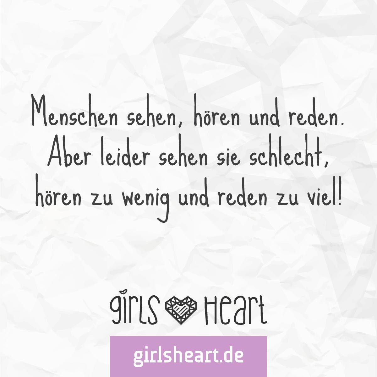 Mehr Sprüche auf: .girlsheart.de #menschen #freunde #lästern