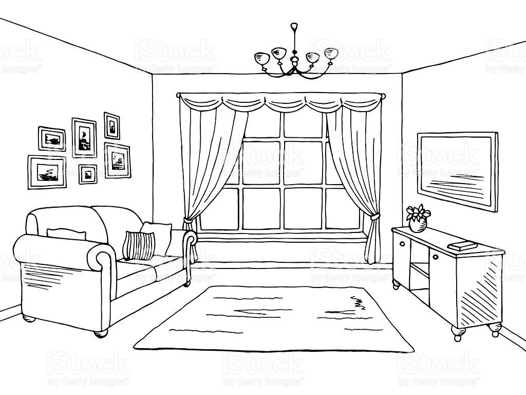 The Most Beautiful Living Room Architecture Sketch