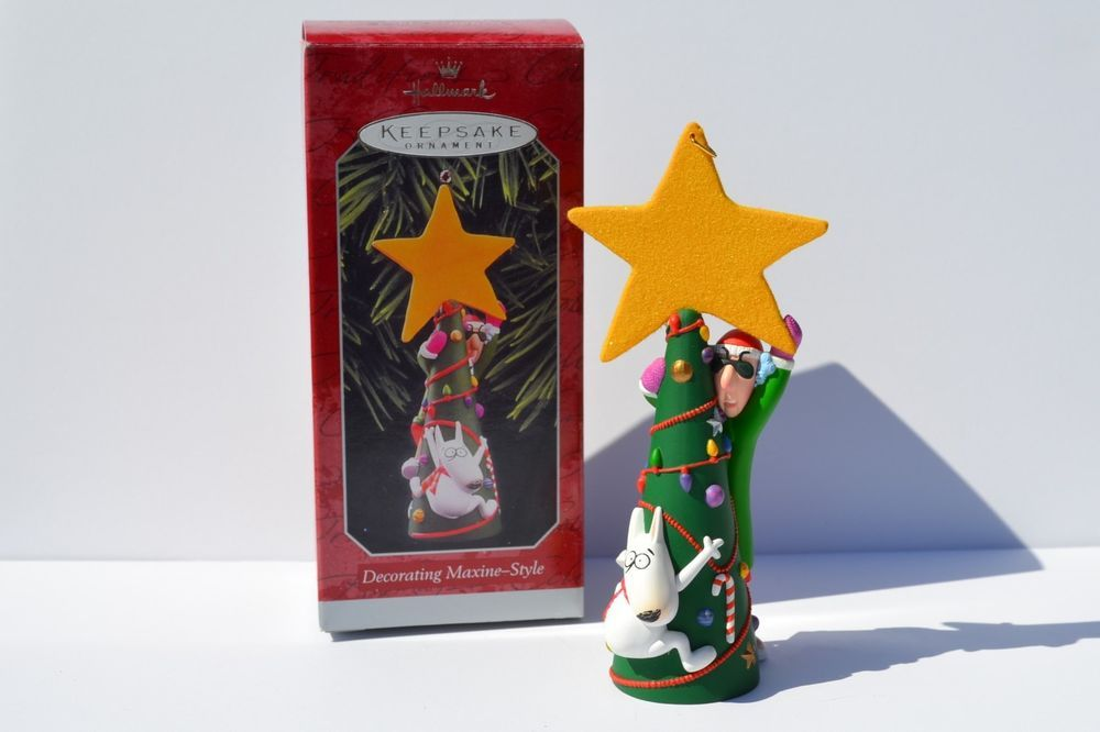 Hallmark 1998 Decorating Maxine Style Floyd Tree Star Christmas Ornament #2  #Ornament - Details About Hallmark 1998 Decorating Maxine Style Floyd Tree Star