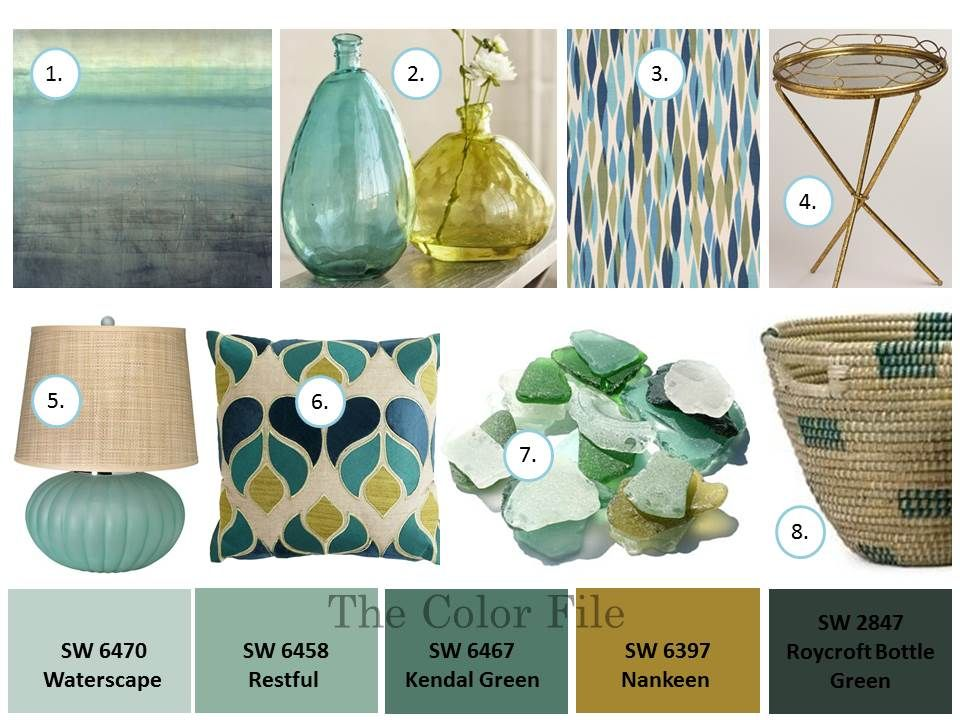 sea glass color palette the color file fauxnatic about color aqua - Green And Gold Color Scheme