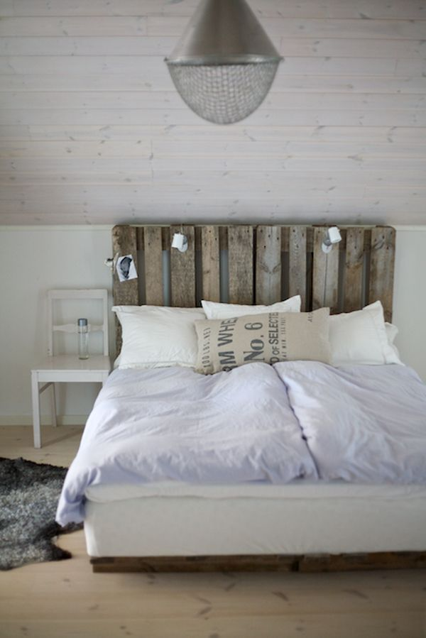 chambre scandinave idee de bricolage tete de lit