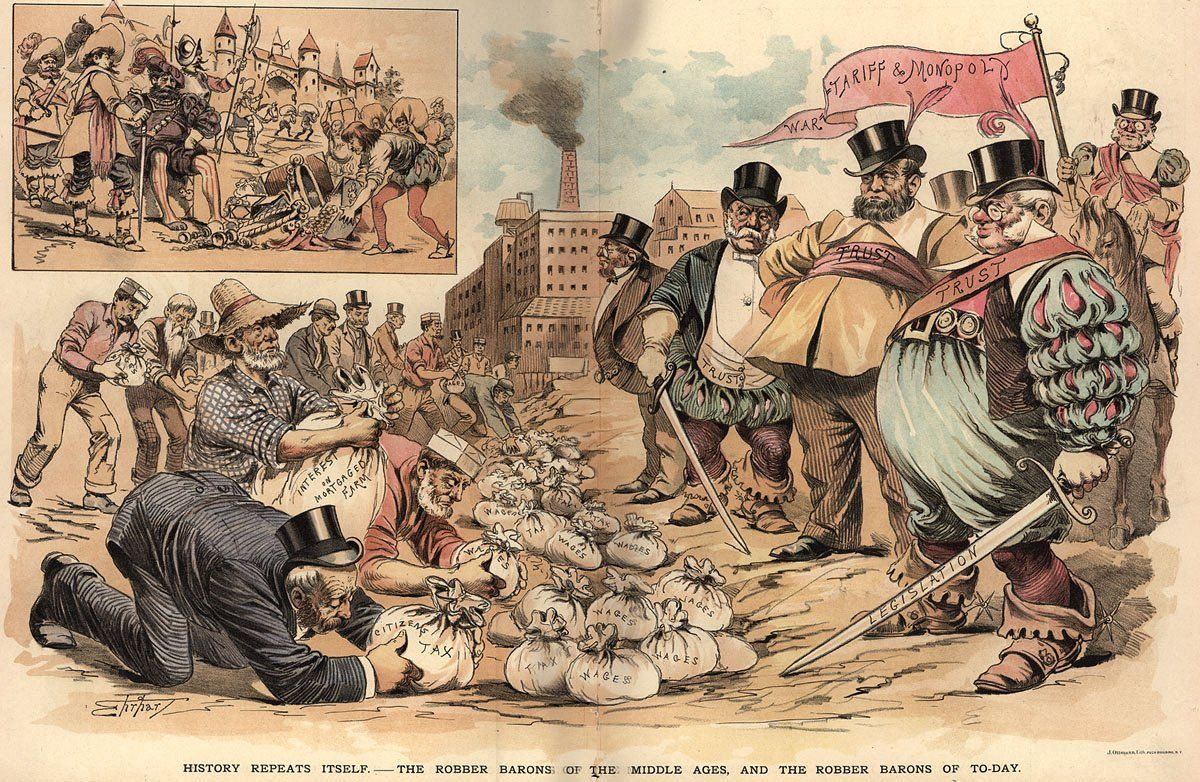 great political cartoon of robber barons and trusts gilded age great political cartoon of robber barons and trusts cartoon gildedgilded age