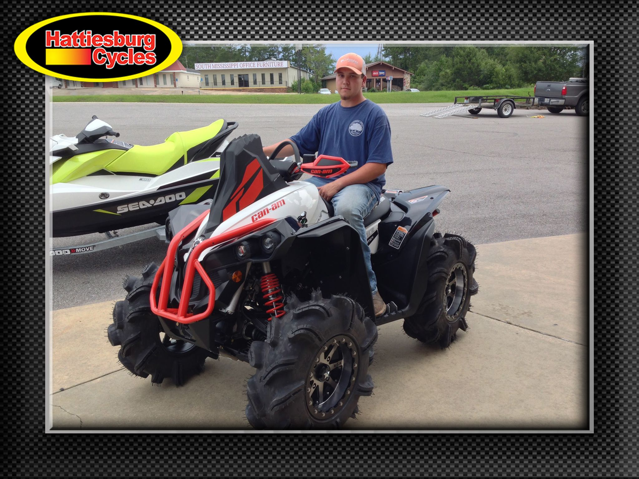 Thank You Jayden Blackwell From Laurel MS For Getting Your 2017 Can Am  Renegade At