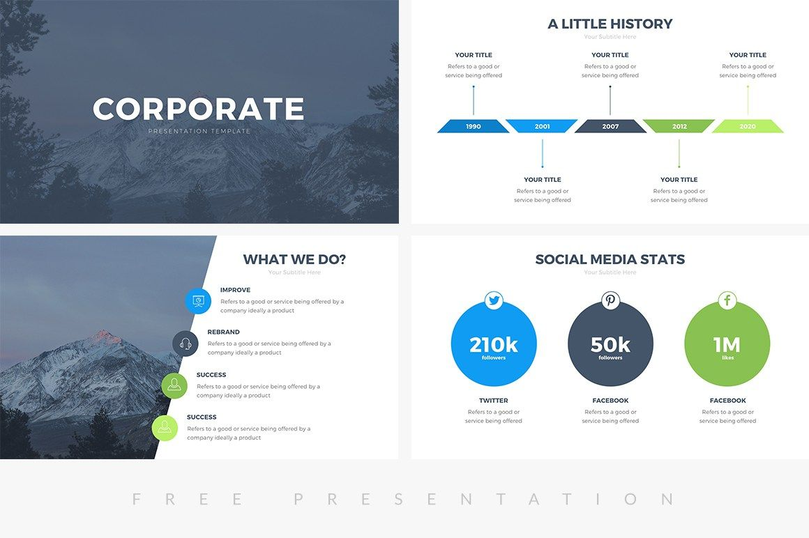 Corporate Free Ppt Presentation Template Cool Powerpoint Templates Business Powerpoint Presentation Presentation Template Free