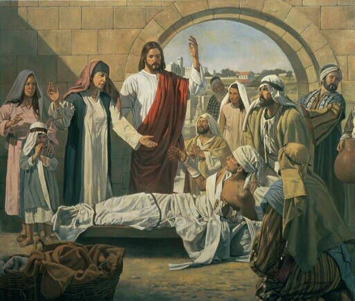 Jesus Raises A Widow's Son | Miracles of jesus, Christ and Raising