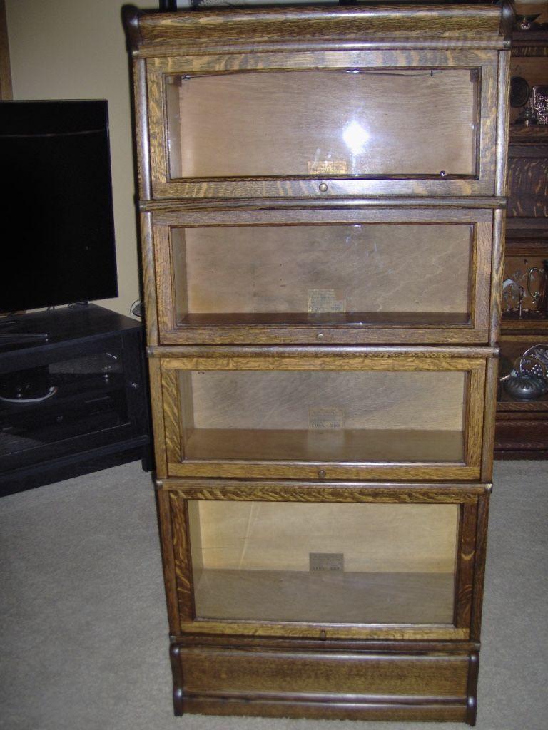 Antique 3 4 Size 25 In Width Globe Wernicke Barrister Bookcase
