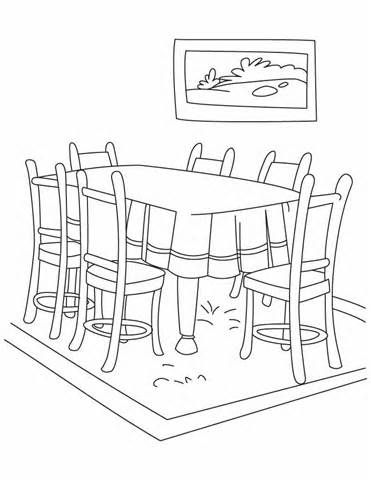 Th 371 480 Dining Room Colors Coloring Pages For Kids