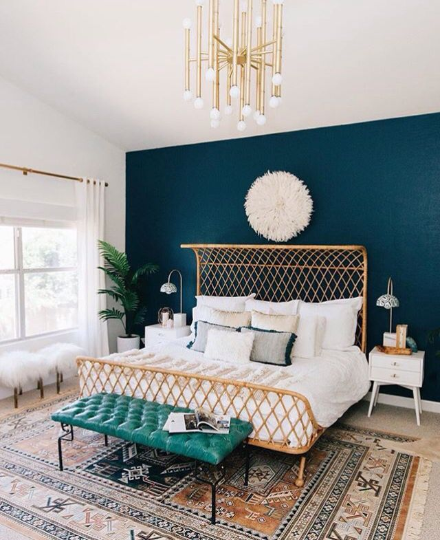 Blue Wall With Gold Accents Dcbarroso