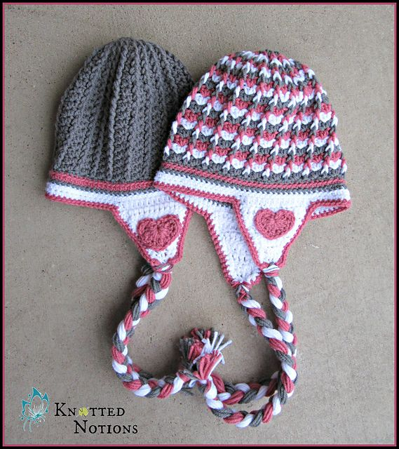 Free Pattern This Earflaps Hat Is Amazingly Cute Knit And Crochet Daily Crochet Hats Crochet Baby Hats Crochet Kids Hats