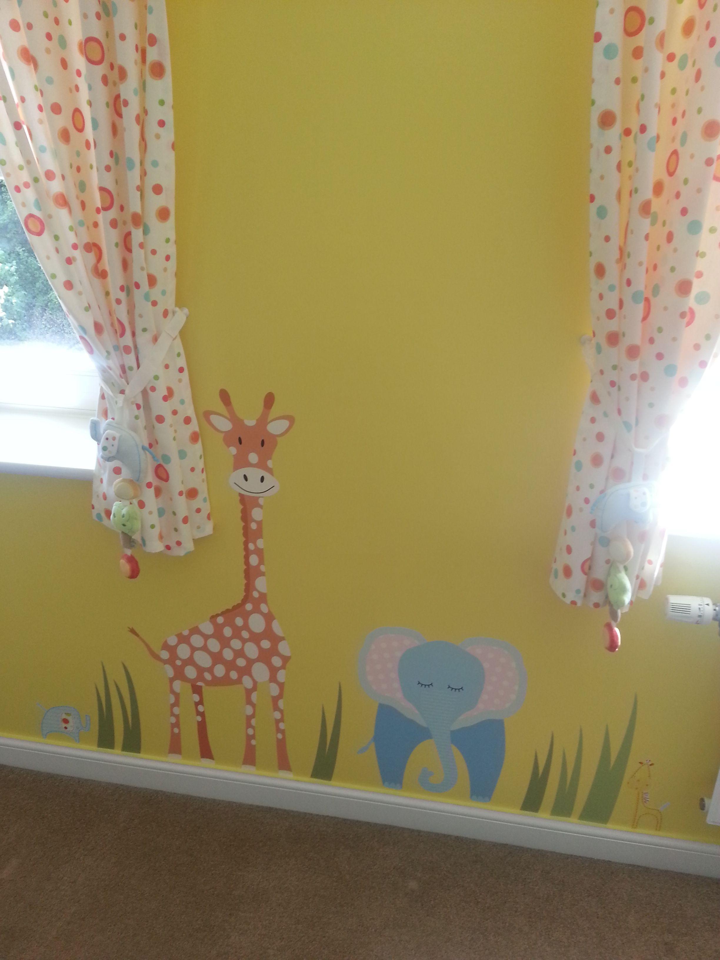 Jungle Animal Nursery Wall Art Scene www.enchanted-interiors.co.uk ...