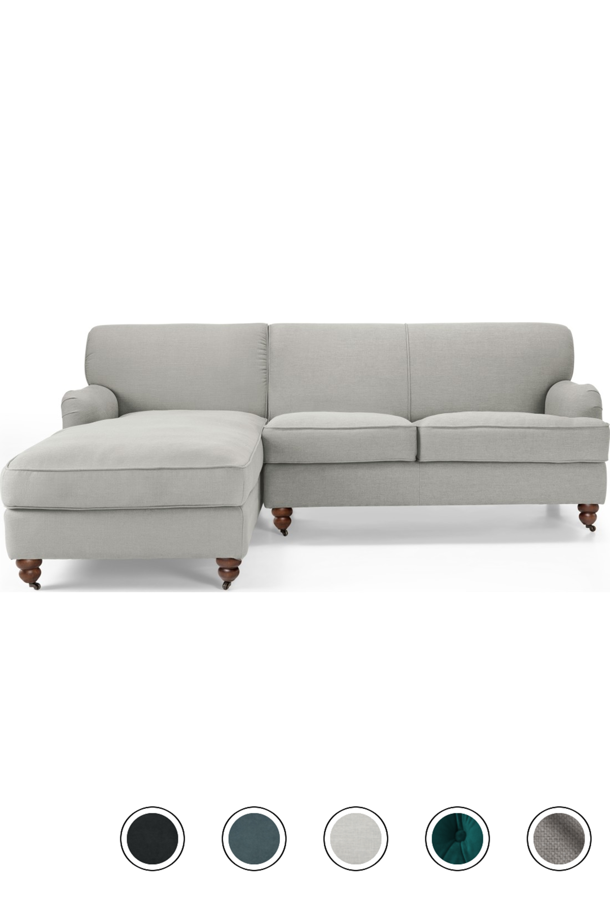 Made Chaise End Corner Sofa Chic Grey Velvet Orson Corner Sofas Collection From Made Com Corner Sofa Sofa Grey Corner Sofa