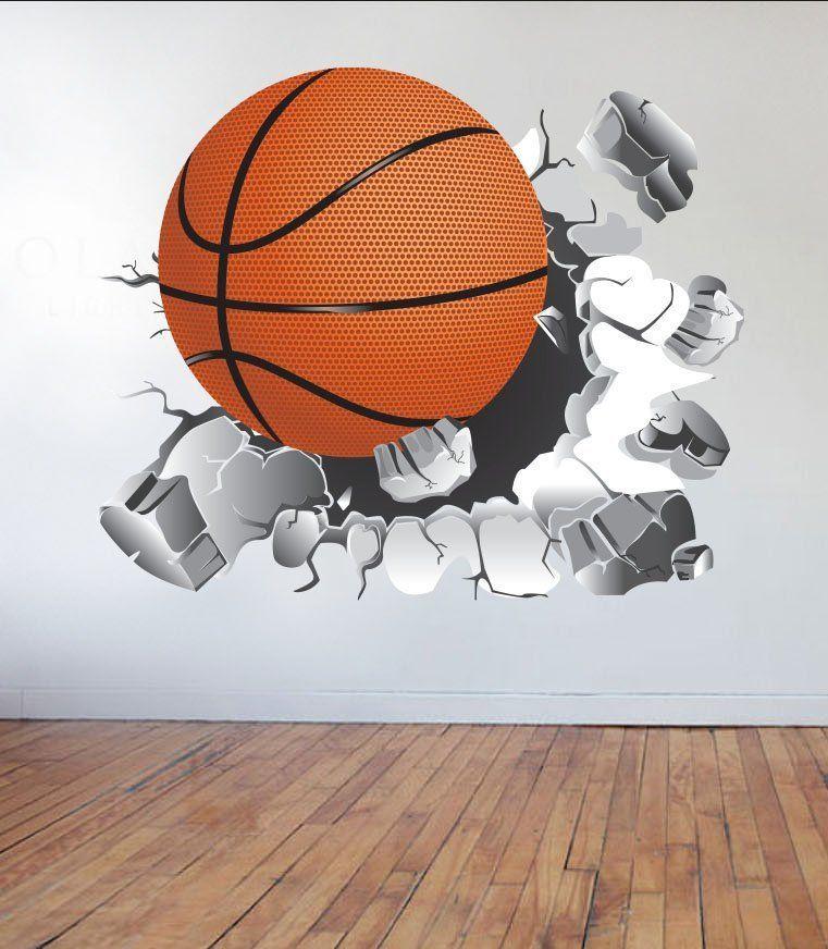 Basketball Wall Decal Basketball Sticker Vinyl Wall Sticker Etsy Basketball Wall Decals Basketball Wall Wall Decals