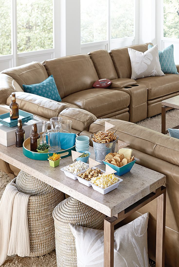 The Havertys Bentley reclining sectional is the best seat in the house. Shown in latte : havertys bentley sectional - Sectionals, Sofas & Couches