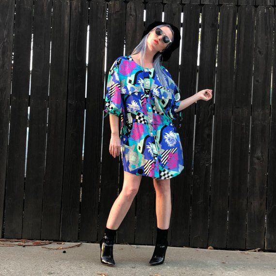 Vintage Silk Dress- 80s Mini Dress- XS SMALL | Products