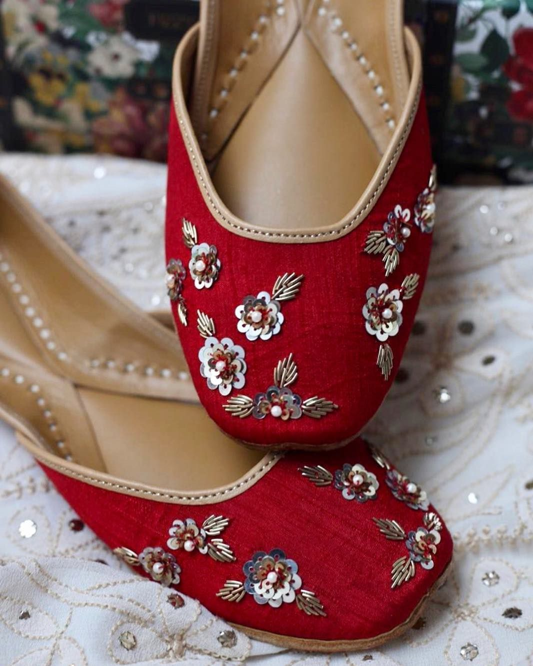 Ready In Red Womens Wedding Shoes Indian Shoes Pakistani Shoes