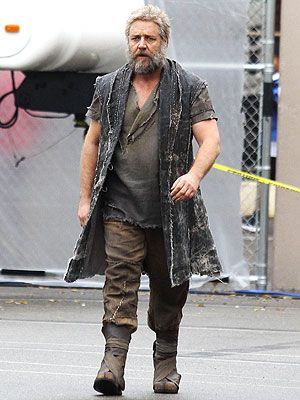 Russell Crowe Sports Long Beard For Noah Rags Clothing Mens Outfits Fashion