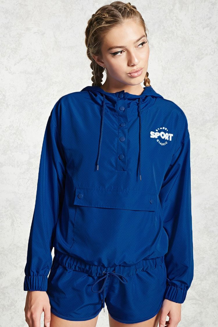 Active Hooded Graphic Anorak