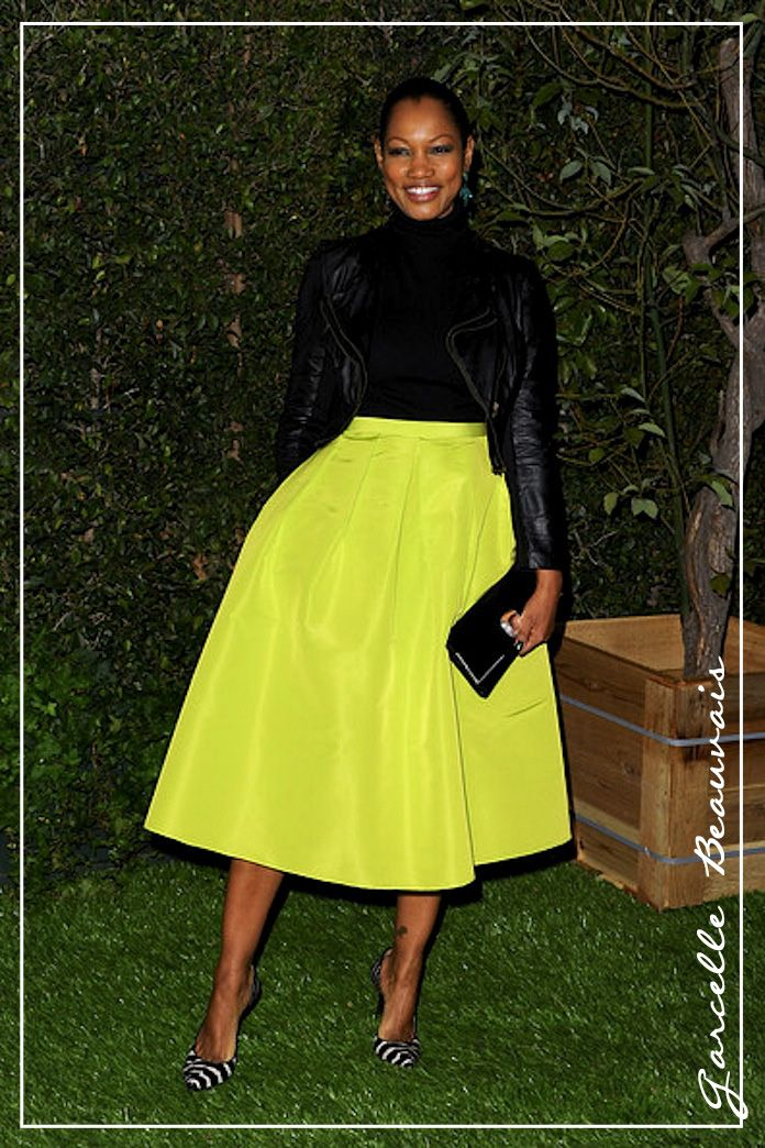 Style. Love. Repeat.: Steal Her Style: Garcelle Beauvais's Winter Neon