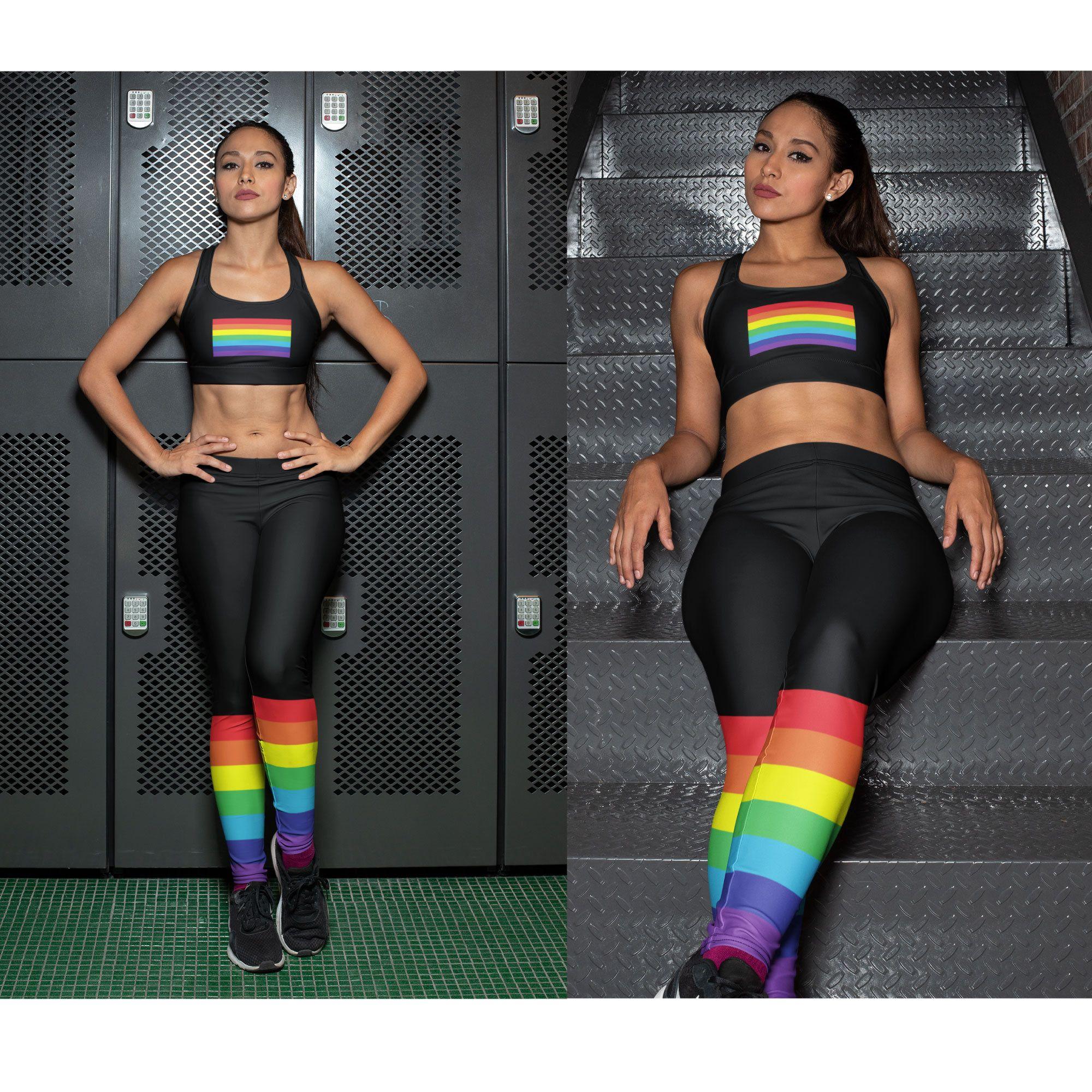 Pansexual Flag Activewear Pansexual Sports Bra Pan Pride Flag LGBTQ+ Pride Festival Top Pansexual Pride Training Bra Pan Pride Yoga Bra