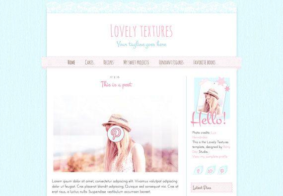 blogger template lovely textures responsive blog design premade