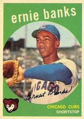 1959 Topps Ernie Banks 350 Baseball Card Value Price Guide Baseball Cards Baseball Card Values Baseball