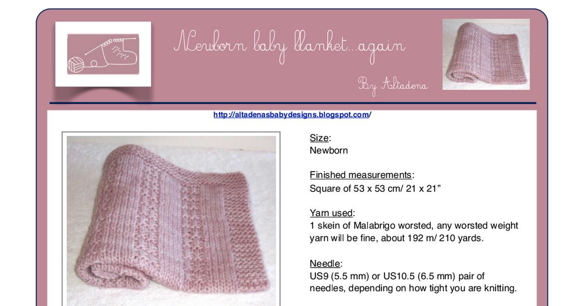 Newborn baby blanket...again EN V.1 | Baby Blanket | Pinterest ...