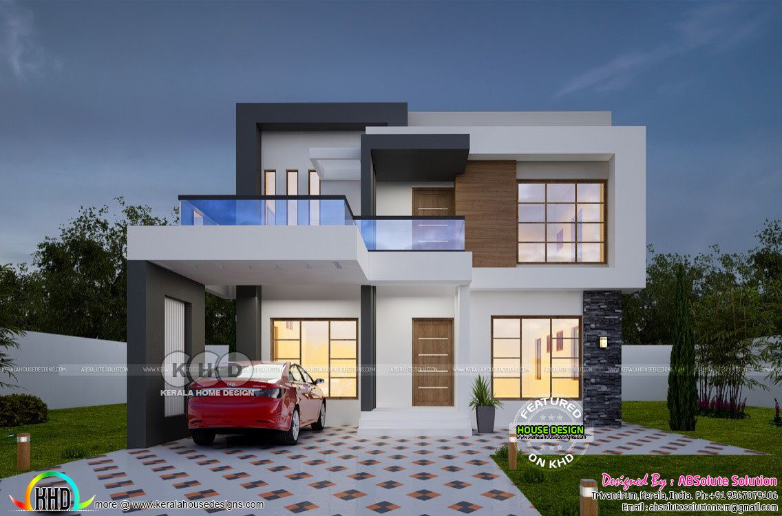 1900 Sq Ft Cost Estimated Contemporary Home Contemporary Building Kerala House Design Architecture House