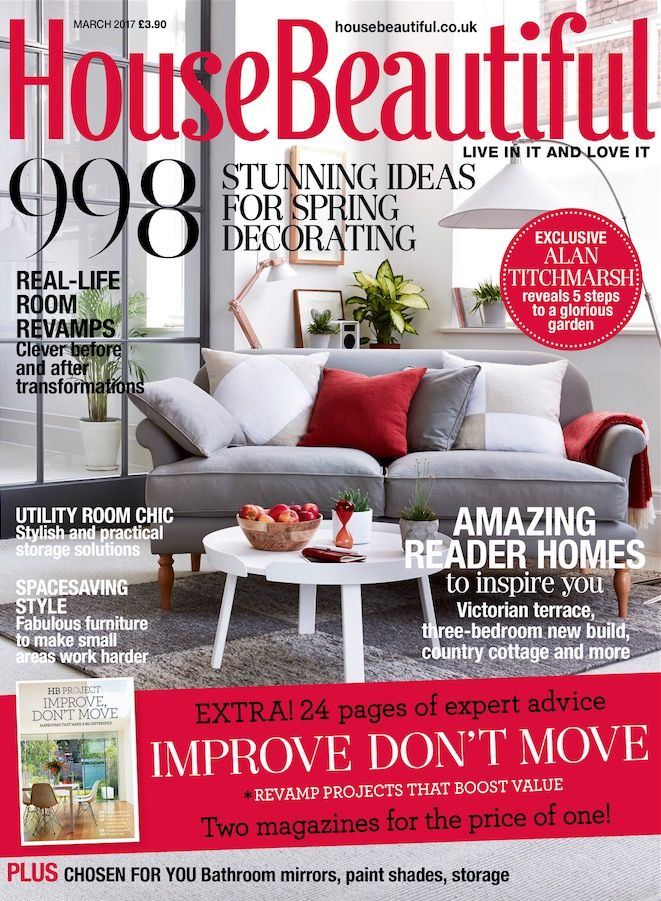 House Beautiful S March Issue Includes Spring Decorating Ideas Real Life Room Revamps Amazing Reader Homes And Expert Advice On Home Improvement Projects