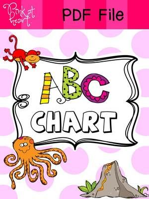 Free Abc Chart From Pink At Heart On TeachersnotebookCom