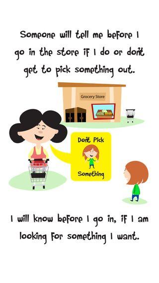 Grocery Store Behavior for Kids can be tough. This social
