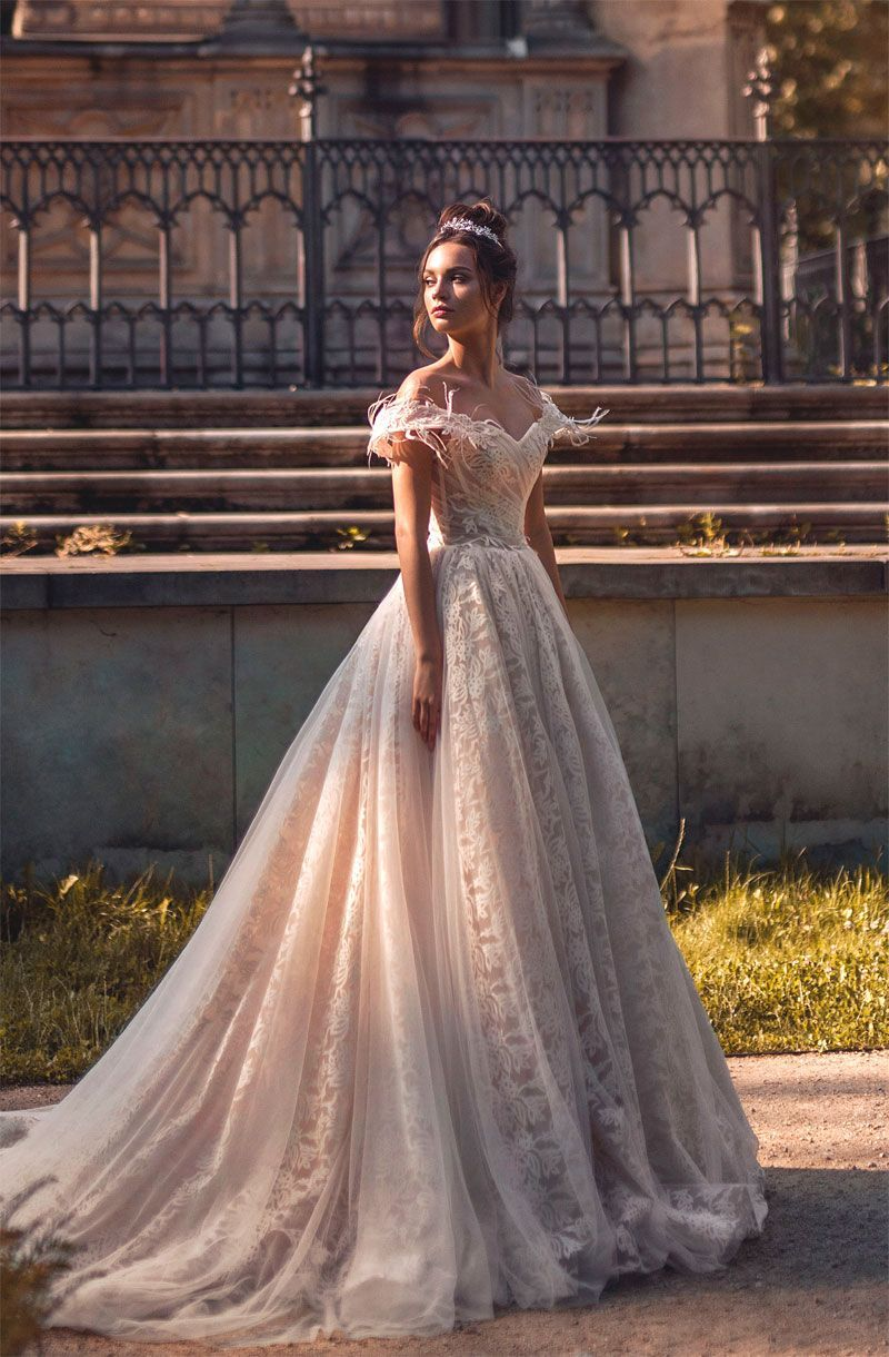 Blammobiamo wedding dresses chapel train ball gowns and