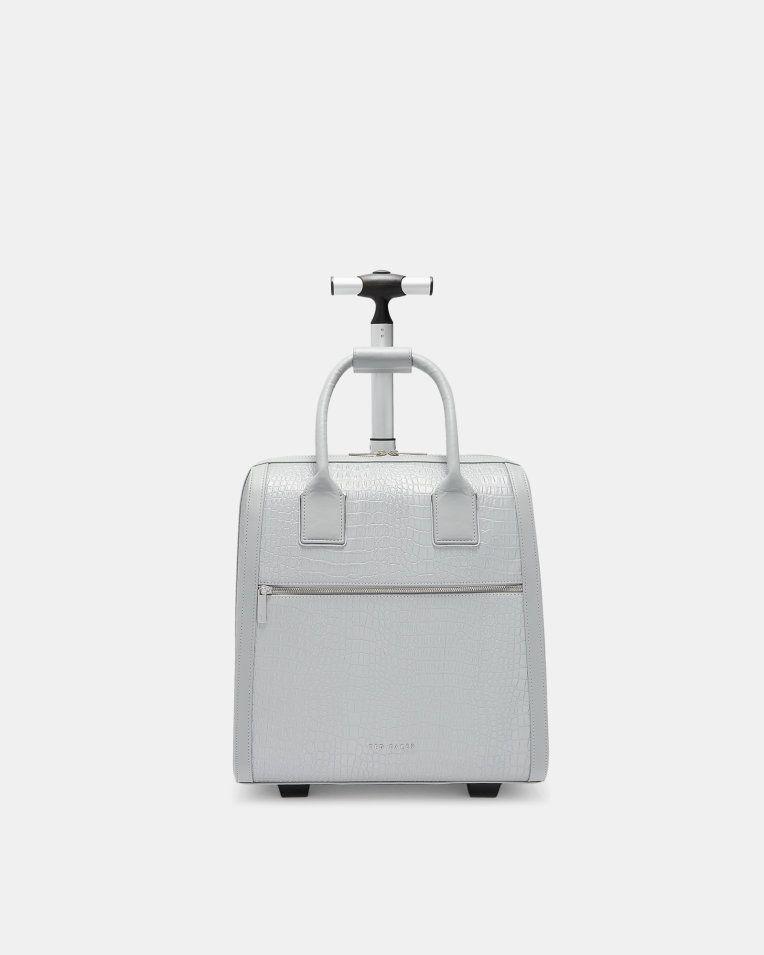 c2f056690117 Croc embossed travel bag - Silver