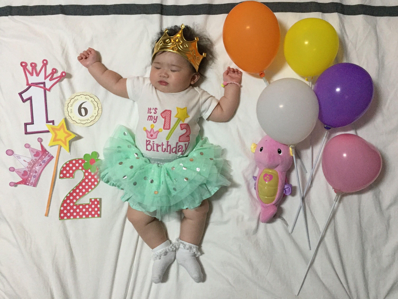 1 2 Birthday 6 Months Sesion De Fotos Bebes Decoracion De Cumpleanos Fotos Bebes