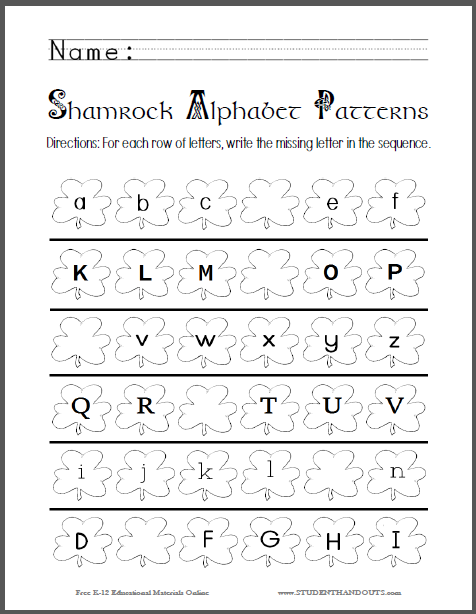 This fun worksheet, perfect for St. Patrick\'s Day (March 17), has ...