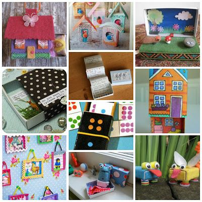 10 matchbox crafts to make with your kids :: manualidades con cajas de cerillas