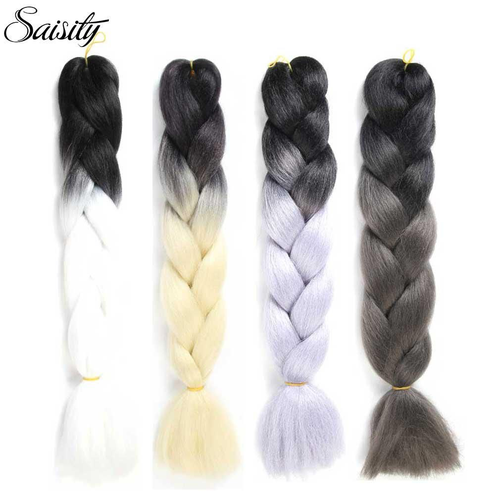 Saisity crochet hair extensions ombre jumbo braids crochet braids