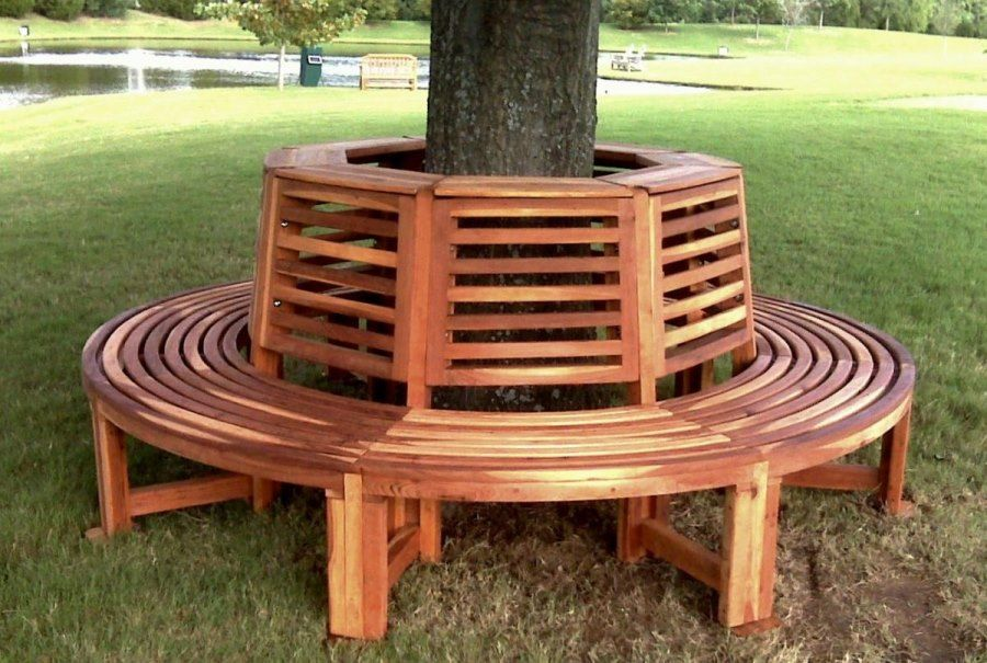 Tree Bench Ideas For Added Outdoor Seating Concrete Garden Bench Tree Bench Tree Seat