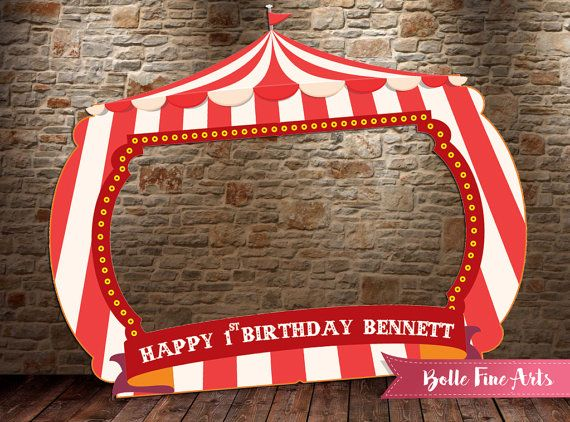 Carnival / Circus Frame DIGITAL FILE Printable by BolleFineArts ...