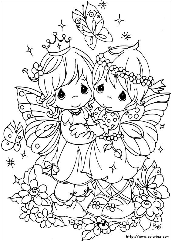 Precious Moments  Coloring Page For Kids And Adults From Cartoons Coloring Pages Precious Moments Coloring Pages