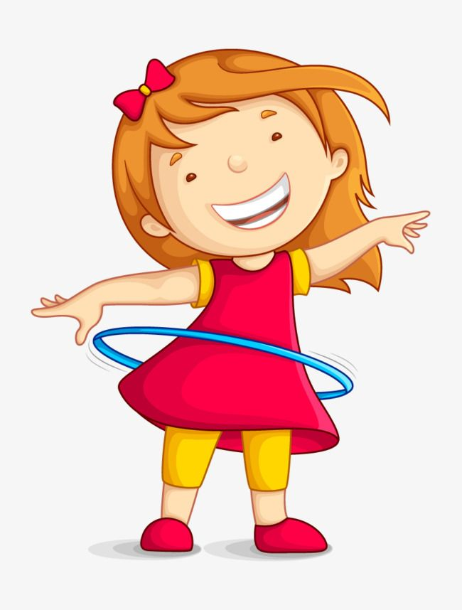 The Girl Who Shakes The Hula Hoop Movement Hula Hoop Little Girl Png And Vector With Transparent Background For Free Download Outdoor Games For Kids Cartoon Illustration Hula Hoop