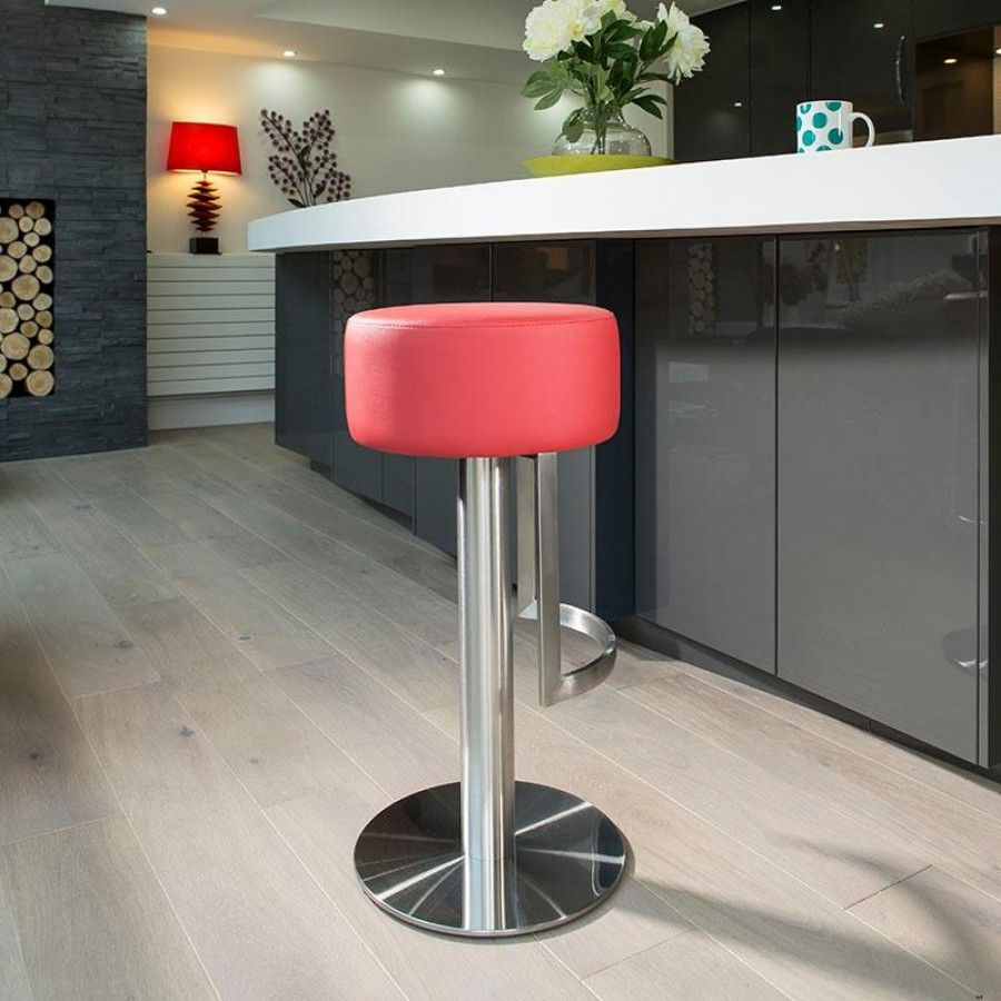 Luxury Red Kitchen Counter Bar Stool / Seat /Barstool Stainless 931R. Ultra  Stylish Modern