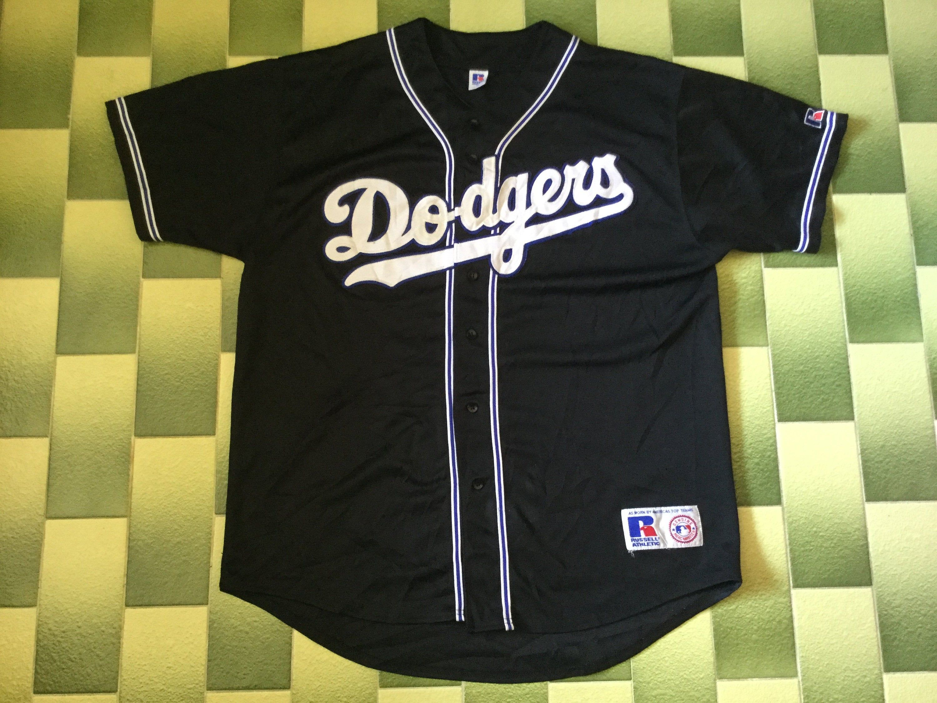 Vintage Los Angeles Dodgers Baseball Jersey Mlb Size Xl By Russell Athletic In 2020 Dodgers Baseball Los Angeles Dodgers Baseball Russell Athletic