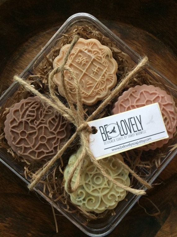 Facial Soap Sampler ~ Red French Clay~ Green French Clay~ Purple Brazilian Clay…
