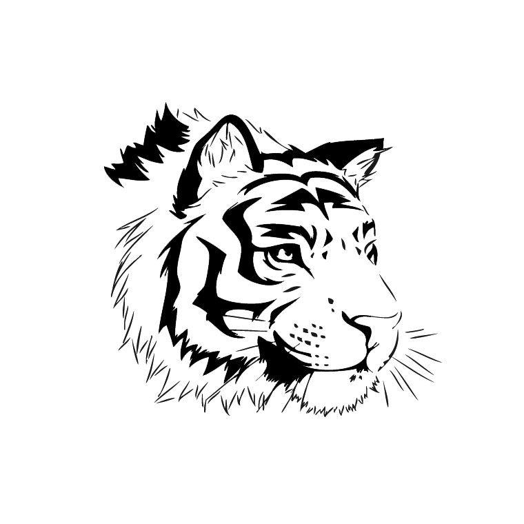 Dessin de tigre 9 animales pinterest art for Dessin minimaliste