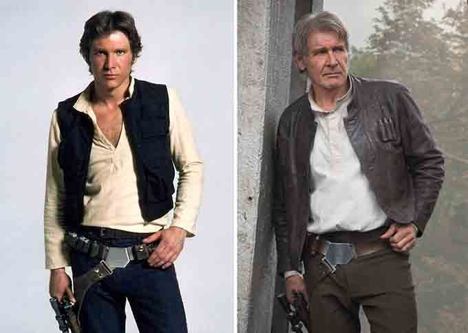 On the Creative Market Blog - Your Favorite Star Wars Characters Then and Now