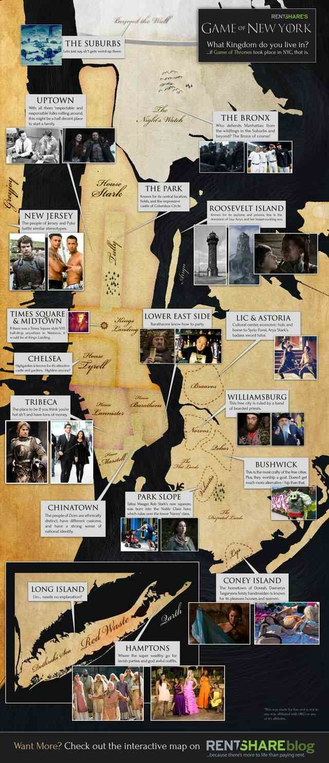 NYC re-imagined as Westeros? Me gusta. (060112GOT2.jpg by gothamist.com)